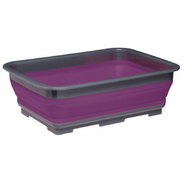 Kitchen Craft Purple Collapsible Washing Up Bowl